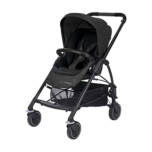 Bébé Confort Mya, Compacte et légère, Poussette citadine, De la naissance à 3,5 ans (0-15kg), Nomad Black