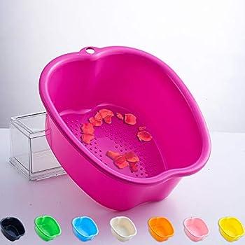 YOMIQIU Foot Soaking Bath Basin Large Plastic Foot Soak Tub Foot Bucket Pedicure Spa Bowl for Foot Massage at Home Callus Fungus Dead Skin Remover  Fits to a Men s Size 11   Purple