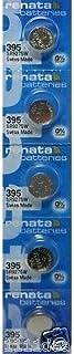 Strip of 5 Genuine Fresh Renata 395 SR927SW Swiss Made Silver 1.55v Batteries