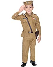 Smuktar garments Kids Polyester Police Costume, 5 to 6 Years (Beige)