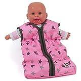 Bayer Chic 2000-Saco de Dormir para muñecas, diseño de Estrellas, Color estrellita Gris (792 83)
