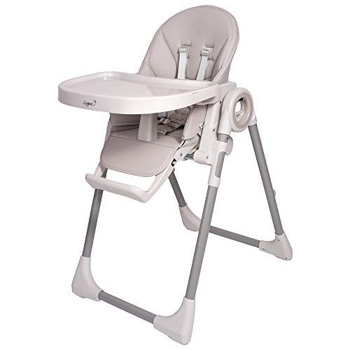 Trona infantil Fency para niños de 6 a 36 meses, 7 niveles de altura, carga máxima de 20 kg, trona universal 3 en 1 (gris)