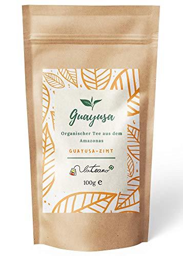 Lateano – Guayusa Tee lose organisch mit Zimt 100g – Energy Tea aus dem Amazonas für mehr Konzentration, Ausdauer & Leistung – die natürliche Alternative zu Kaffee