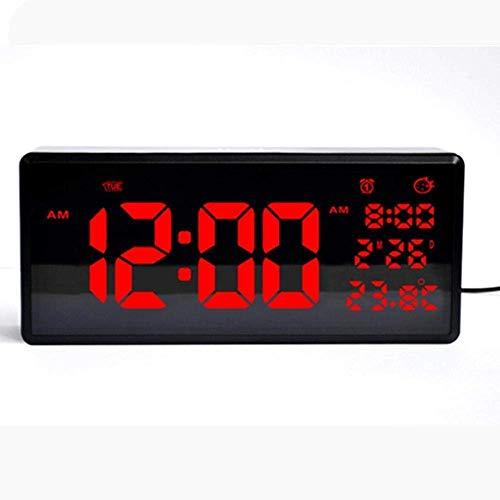 Linda wekker HD kalender rijkelijk LED wandklok en tafelklok thuis leuke daglicht wekker tijdweergave Pretty LED elektronische klok met thermometer