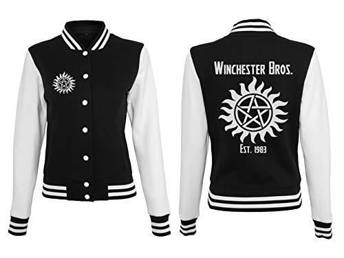 Supernatural Damen College Jacke Winchester Brothers Pentagramm