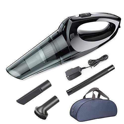 ERZHUI Aspirador portátil de Mano Fuerte para automóvil Aspirador portátil inalámbrico 4KPa con Accesorios de automóvil para automóvil/hogar Aspiradora de Mano inalámbrica (Color: Inalámbrico)
