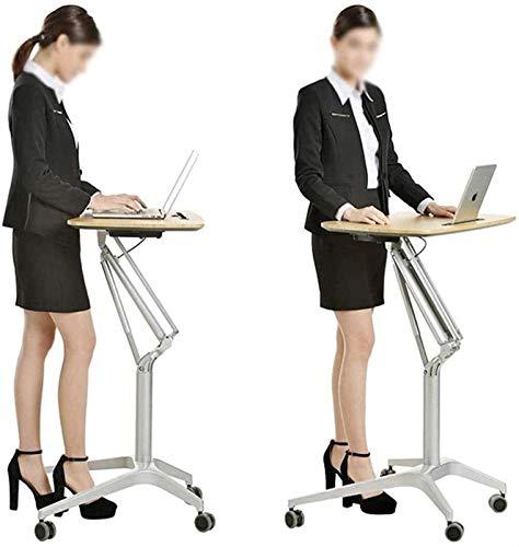 Machinery Parts - Mesa de podio para ordenador portátil, pequeña conferencia, puede moverse, presentación, atril-L (color predeterminado)