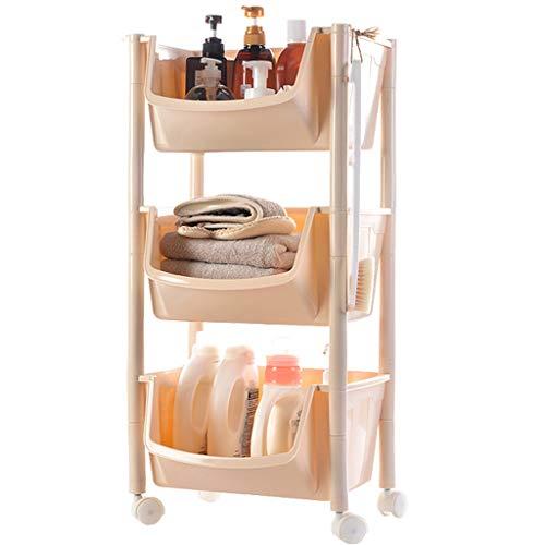 SuoANI Küchenwagen servierwagen, Servierwagen IKEA,Allzweckwagen mit Rollen,Kunststoff,Kosmetikwagen mit Rädern