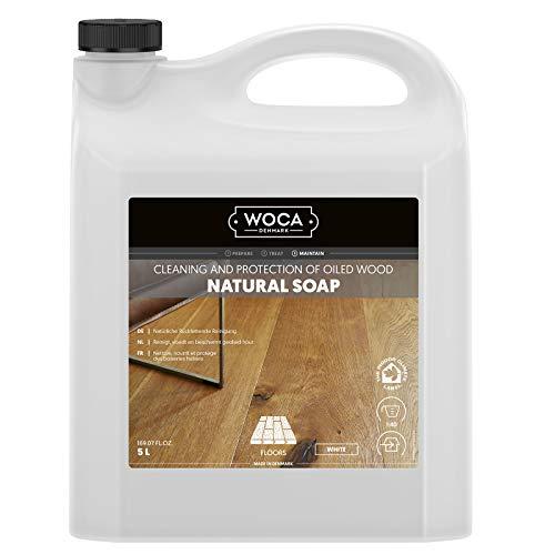 Woca zeep voor houten vloeren, wit, 5 liter