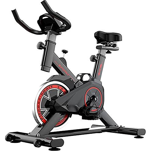 Bici de Ejercicio Bicicleta de Spinning Estacionaria para Interiores,Bicicleta de Fitness para Entrenamiento Cardiovascular en Casa,Cojines y Manillares Ajustables