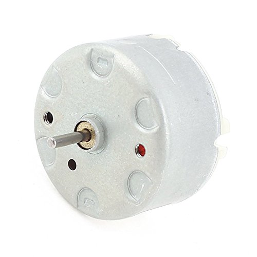Elektromotoren - TOOGOO(R) RF-500 TB-12560 DC1.5-12V 2700 U/MIN Leerlaufdrehzahl 32mm Durchmesser DC Motor Silber