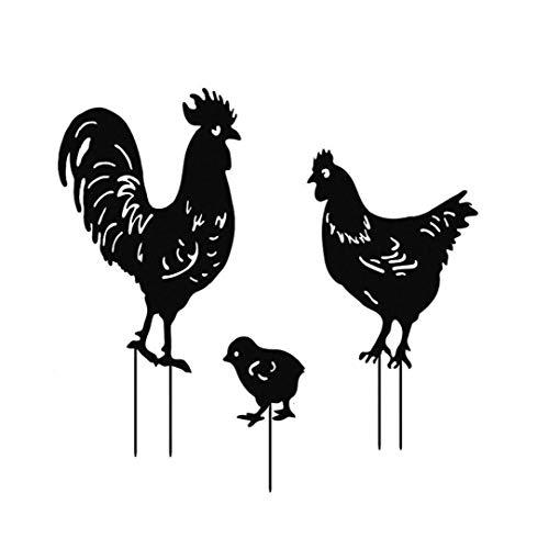 fedsjuihyg Zwierzęta sylwetka metalowy ogród sylwetka zwierzę pieczęć forma jardowa dekoracja sztuczna czarna 3 szt. meble ogrodowe