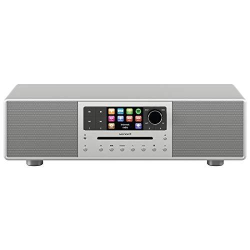 sonoro MEISTERSTÜCK Stereoanlage 2017 (FM/DAB+, CD, AUX, Bluetooth, Spotify) Silber