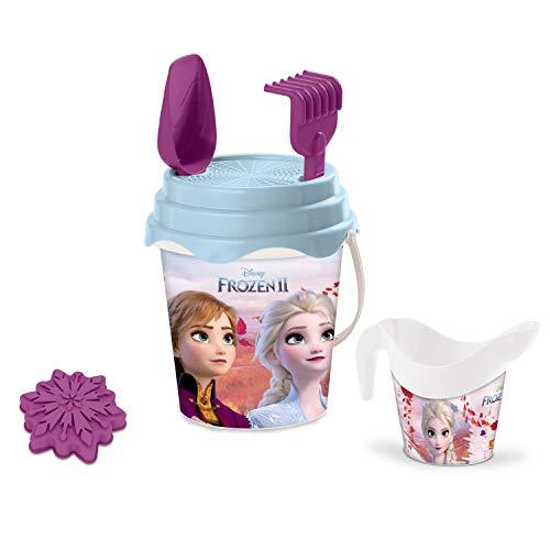 Mondo Toys Disney Frozen II Bucket Set, Set Mare Renew Toys con Secchiello, Paletta, Rastrello, Setaccio, Formina, Annaffiatoio Inclusi, 28194