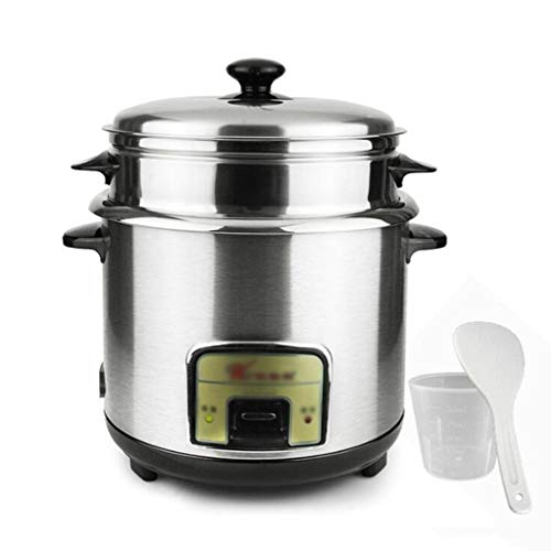 Household 5L 6L Thickened External Steel Steamer Rice Cooker, Stainless Steel Electric Cooker, All Stainless Steel Steamer One-button Control Stainless Steel Inner Pot, Suitable For 1-5 People Multi-f