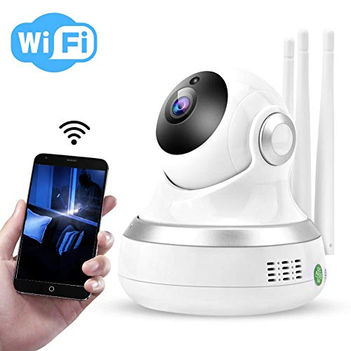 1080p Überwachungskamera HD Wireless Smart WiFi Cloud Speicher Babyphone Sicherheit Kamera für Haushalte/Büro mit IR Nachtsicht, Zwei-Wege-Sprechen, Bewegungserkennung (200W)