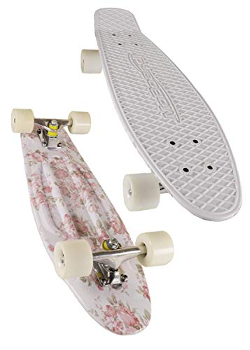 """MoBoard 22"""" Vintage Style Graphic Complete Skateboard, Pink/Graphic"""