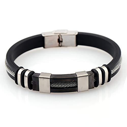 UINGKID-Serie Armband Kreative Stilvolle Charm Charming Armreif Schmuck Zubehör Männer galvanisch Schlangenkette Mode Armband Titan Stahl Silikon Armband