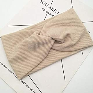 2020 Women Headband Cross Top Knot Elastic Hair Bands Soft Solid Girls Hairband Hair Accessories Twisted Knotted Headwrap ...