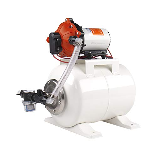 SEAFLO 55-Series Water Pump and Accumulator Tank System - 12V DC, 5.5 GPM, 60 PSI, 2 Gallon Tank