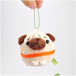 Dalino Babys Toys Mini Japanese Shiba Inu Series Small Pendant Plush Toy Beaded Doll (Brown)