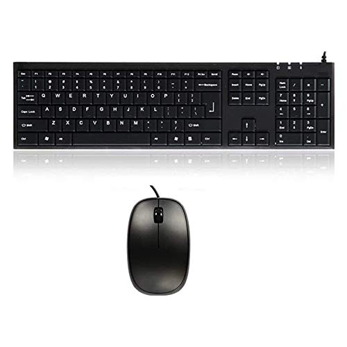 Color : Black Black Computer Multimedia Wired Ultra-Thin Keyboard with Keyboard Cover Protector Skin Comfrotable and Durable