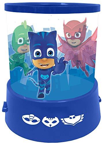 empireposter Nachtlicht - PJ Masks - H 12 Ø 11 - Nachtlampe mit Projektion - Einschlafhilfe für Kinder