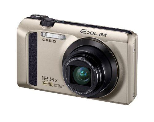 Casio Exilim EX-ZR300 Digitalkamera (16,1 Megapixel, 7,6 cm (3 Zoll) Display, 25-Fach Multi SR Zoom, 24mm Weitwinkel, HS-Nachtaufnahme, HDR) Gold