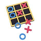 Urhause Tic-Tac-Toe XO - Juego de mesa para niños, juego de cartas familiar, cumpleaños infantiles, juego de sociedad y familia, juego de aprendizaje inteligente para niños y adultos