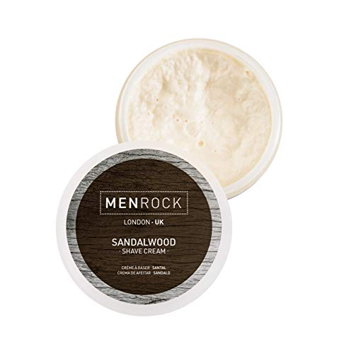 Men Rock Crema da barba Sandalo, rasatura premium per pelli sensibili 100ml