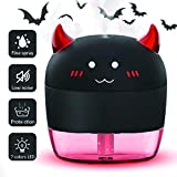 TAOKEY 200ml Mini USB Train Air Humidifier LED Ligh with Relaxing Color Change Nightlight Quiet Diffuser Vaporizer for Baby Nursery Office Home Bedroom (Black)