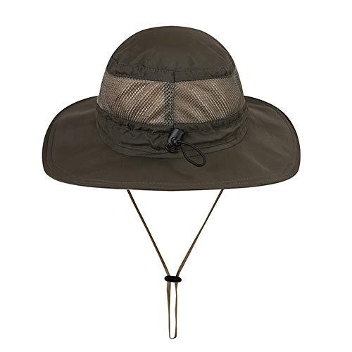Jungle Hat numérique, Sun UV extérieur Grande pêche Chapeaux de Soleil Larges Bords UV Protection séchage Rapide et Anti-UV Filet de pêche Chapeau Alpinisme extérieur Chapeau de pêcheur (Nylon)