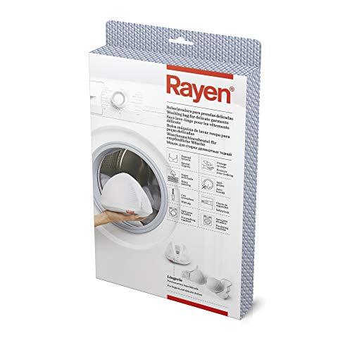 Rayen Lavadora y Secadora lavandería para Prendas dedicadas   Bolsa Protectora Reutilizable para el Lavado de Ropa   18 x 15 x 5 cm, Blanco
