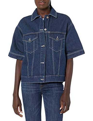 Armani Exchange Denim Jacket Chaqueta, Indigo Azul Vaquero, XS para Mujer