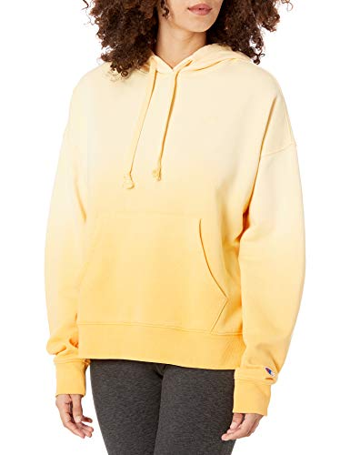 Champion Women's Powerblend Cropped Hoodie, Adobe Wall Tan Ombre, Large