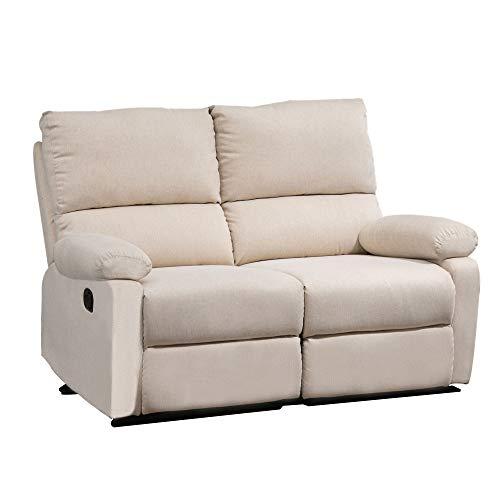 HOMCOM Liegesofa Relaxsessel Liegesessel TV Sessel Einzelsofa 150° neigbar Fernsehsessel Leinen 134 x 92 x 97 cm