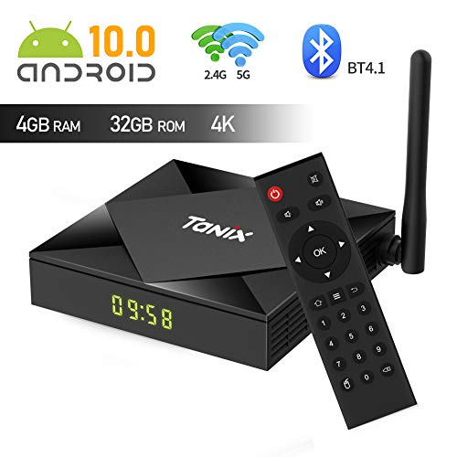 Android 10.0 TV Box, TX6s Android Box Allwinner H616 Quad-core 64 Bits with 4GB RAM 32GB ROM Smart TV Box 2.4G/5GHz Dual WiFi Bluetooth 4.1 Ethernet 3D/4K Full HD/H.265