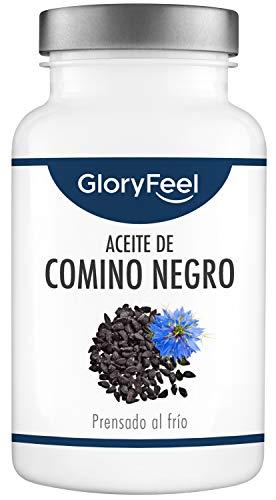 GloryFeel Aceite de Comino Negro (Nigella sativa) 1000mg- 420 Cápsulas- Original de Egipto- Prensado al frío 80% ácidos grasos insaturados y vitamina E- Producción probada en laboratorio alemán