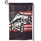 Rxi9s Fahne zum Angeln an den USA, für den Außenbereich, hell, Garten, vertikal, wetterfest, dekorativ, Quadratisch, Einheitsgröße