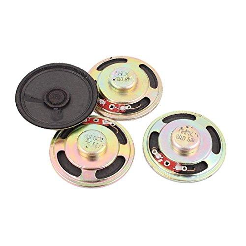uxcell 0.5W 8 Ohm 50mm Diameter Internal Magnet Speaker Loudspeaker 4Pcs