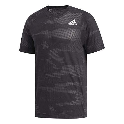adidas Herren Camo Burnout T-Shirt, Black, L