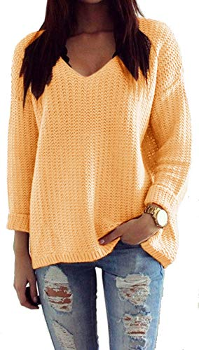 Mikos*Dames Pullover Winter Casual Long Sleeve Loose gebreide trui Sweater Top Outwear (627) * Vervaardigd in de EU - geen import van Azië *
