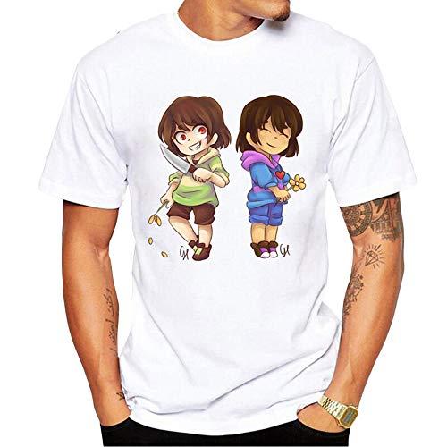 Undertale T-Shirt Camiseta O-Cuello Divertido Personalizar Top de Manga Corta de Verano Casual Blusas Sueltas