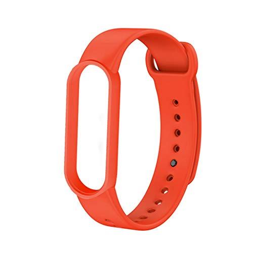 Pulseira de silicone para Mi Band 6, pulseira de substituição macia Huhudde