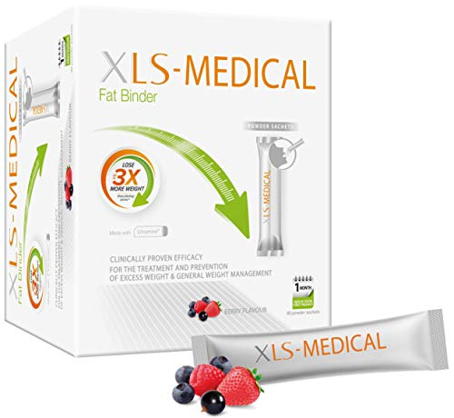 XLS Medical Fat Binder Direct Weight Loss Aid - 1 Month Supply Pack, 90 Sachets by Omega Pharma