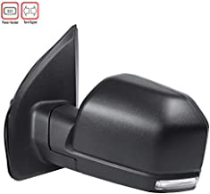 Carpartsinnovate For Ford 15-18 F150 Power Heated Black Driver Side Mirror w/LED Turn Signal Left