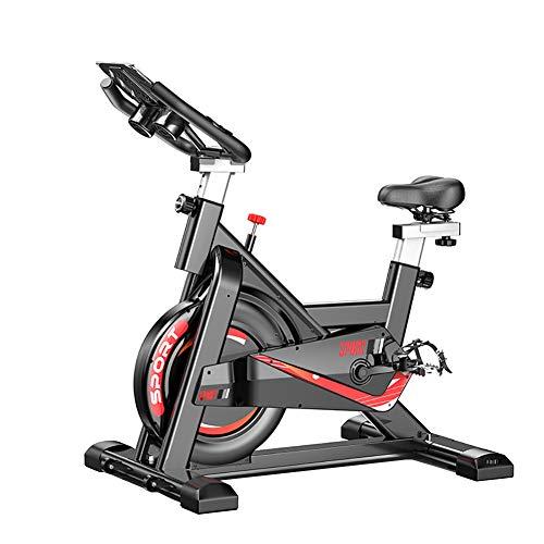 MIMI KING Indoor Cycling Bike Stationäre Spinning Bike Startseite Mute Bequeme Sitzkissen Schweres Schwungrad-LCD-Monitor