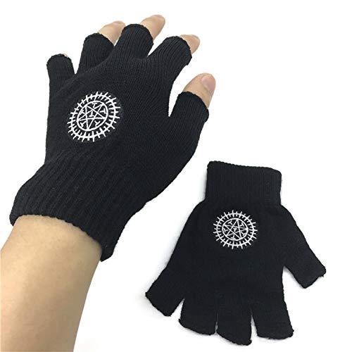 Fingerless Exercise Grip Gloves AnimeFAIRY Tail Fingerlose Handschuhe Stricken Black Butler