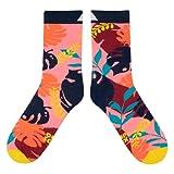 CUP OF SOX Lustige Socken mit Dschungel Urwald, Bunte Geschenksocken in der Pappbecher für Männer & Frauen, 41-44