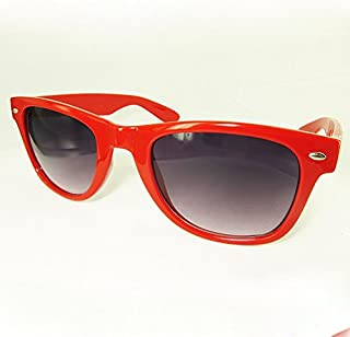 OUTLETISSIMO - Gafas de sol rojas unisex con lentes oscuras degradadas a la moda UV400
